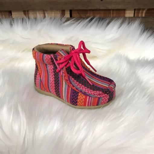 Blazin Roxx Child's Riley Pink Serape High Top Shoe 4411397
