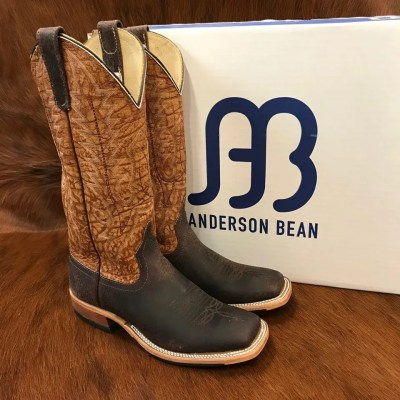 Anderson Bean Chocolate Boar Square Toe Boots 3062M