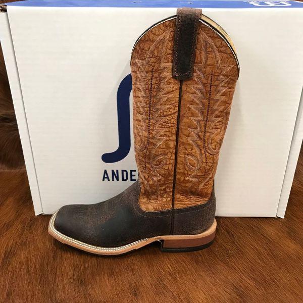 Anderson Bean Chocolate Boar Square Toe Boots 3062M