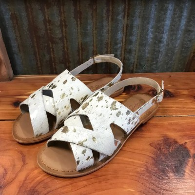 NAUGHTY MONKEY CUP OF TEA SANDALS IN WHITE NMSA0278