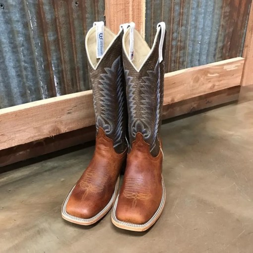 Anderson Bean Elk Hide Square Toe Boots 0067M