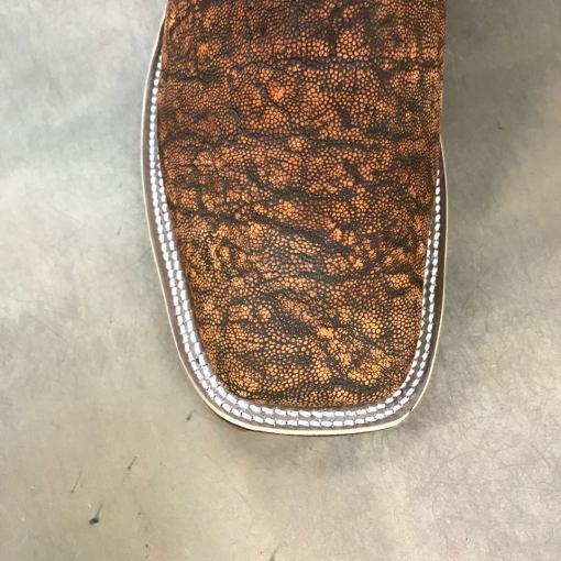Anderson Bean Men's Cognac Safari Elephant Square Toe Boots 3067M
