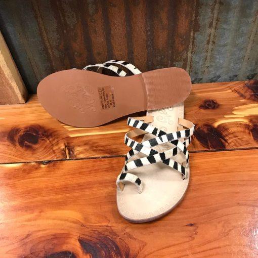 Ladies Naughty Monkey Zooche Zebra Print Slide Sandals NMSA0272