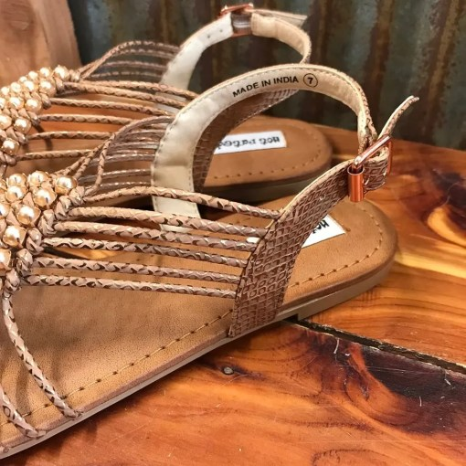 Ladies Not Rated Cielo Rose Gold Slip On Sandals NRSA0323