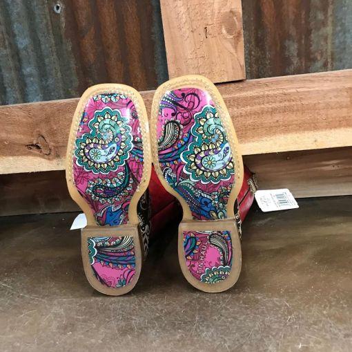Girl's Tin Haul Paisley Rocks Square Toe Boot 0721 BR