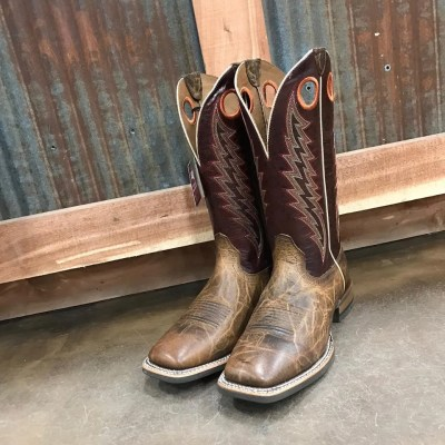 Men's Ariat Branding Pen Tobacco Toffee Square Toe Boot 10023128