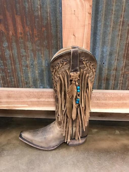 Women's Ariat Brisco Fringe Snip Toe Boot 10023222