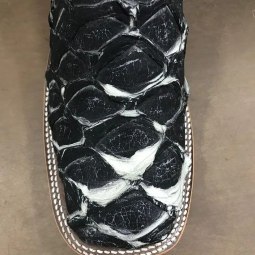 Anderson Bean Big Bass Asphalt Black Square Toe Boot