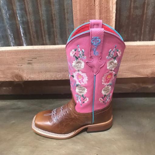 Girl's Macie Bean Rose Garden Square Toe Boot MK7047
