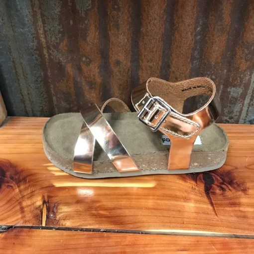Girl's Not Rated Olena Rose Gold Sandal's NRKI153