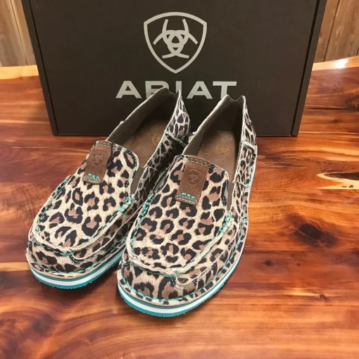 Women's Ariat Cruiser-Cheetah with Teal Accents 10024769