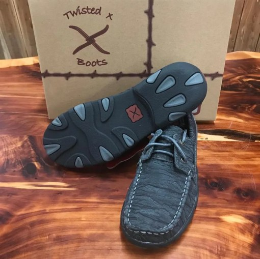 Women's Twisted X Driving Mocs-Charcoal WDM0102