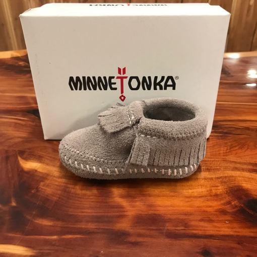 Minnetonka Child's Riley Bootie-Grey 1161T