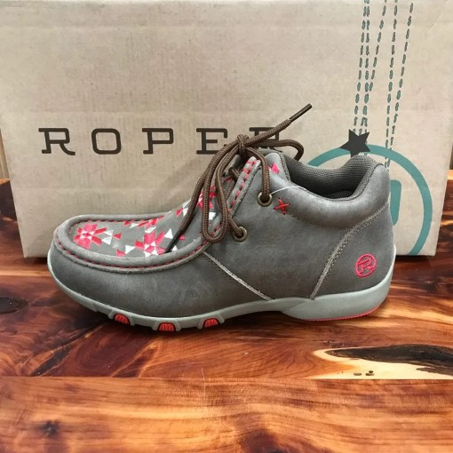 Roper Women's Tan High Country Azteka Shoes