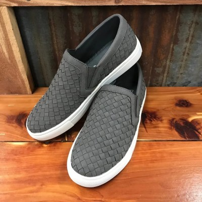Ladies Corky Powder-Grey Slip-On Sneakers
