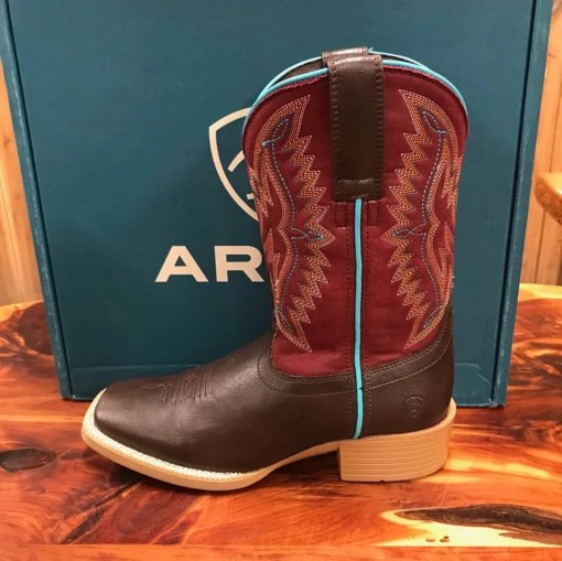 Kid's Ariat Bristo Fudgesickle Square Toe Boots 10025161
