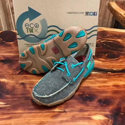 Kid's Twisted X Dust & Turquoise Driving Mocs YDM0040