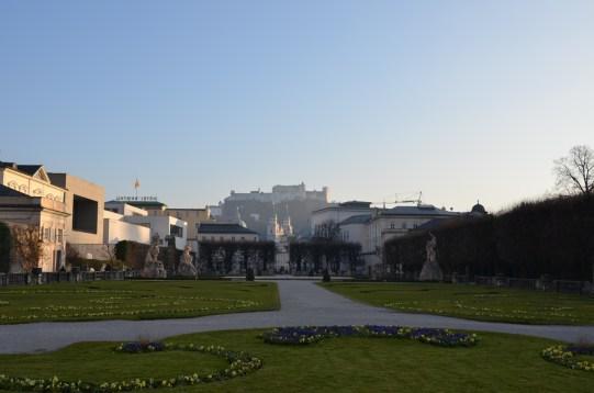 Mirabellgarten mit Blick auf Festung Hohensalzburg