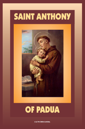 Saint-Anthony-Novena-Candle-label-by-Lucky-Mojo-Curio-Company