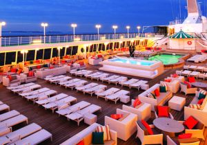 Crystal cruise ship pool
