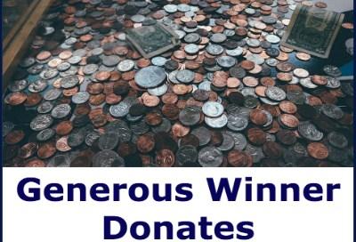 Generous Winner Donates Lottery Winnings