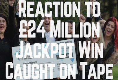 Reaction to £24 Million Jackpot Win Caught on Tape