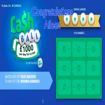 Daily Prize Draw Winner 02-04-2021