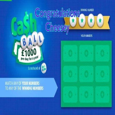 Daily Prize Draw Winner 17-04-2021