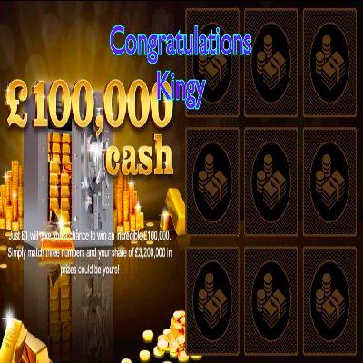 Daily Prize Draw Winner 22-04-2021