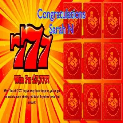 Daily Prize Draw Winner 17-06-2021