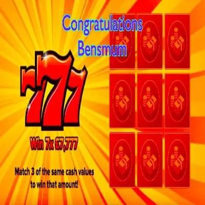 Daily Prize Draw Winner 04-10-2021