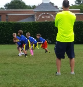 flag football coach fundamental sports playing with disability