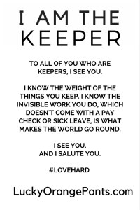 i am the keeper