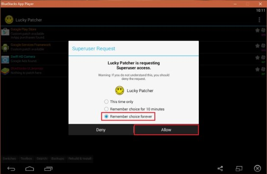 Lucky Patcher with Superuser access