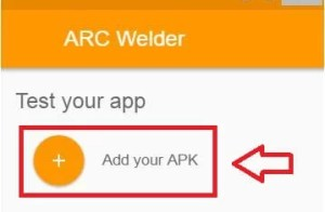 Click Add you APK