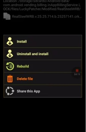 Click Uninstall and Install