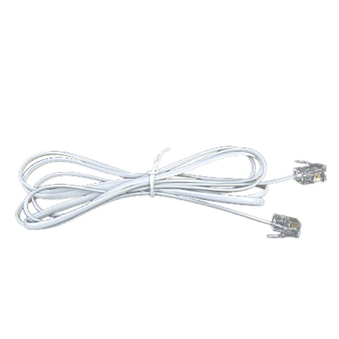 4 8ft Rj11 To Rj11 Male To Male Telephone Cable Connector