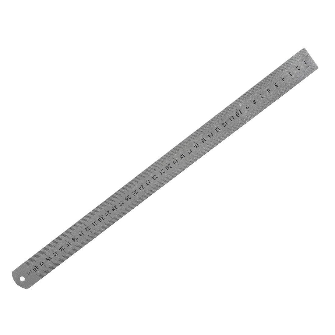 Stainless Steel 16 Inch Straight Ruler Measuring Kit Metric 40cm Lw