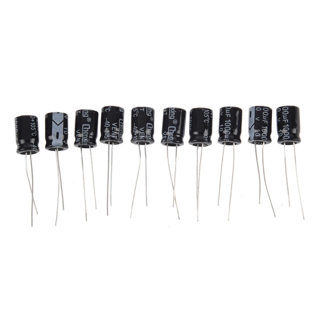 10 X Uf 10v 105c Radial Electrolytic Capacitor 8x11mm