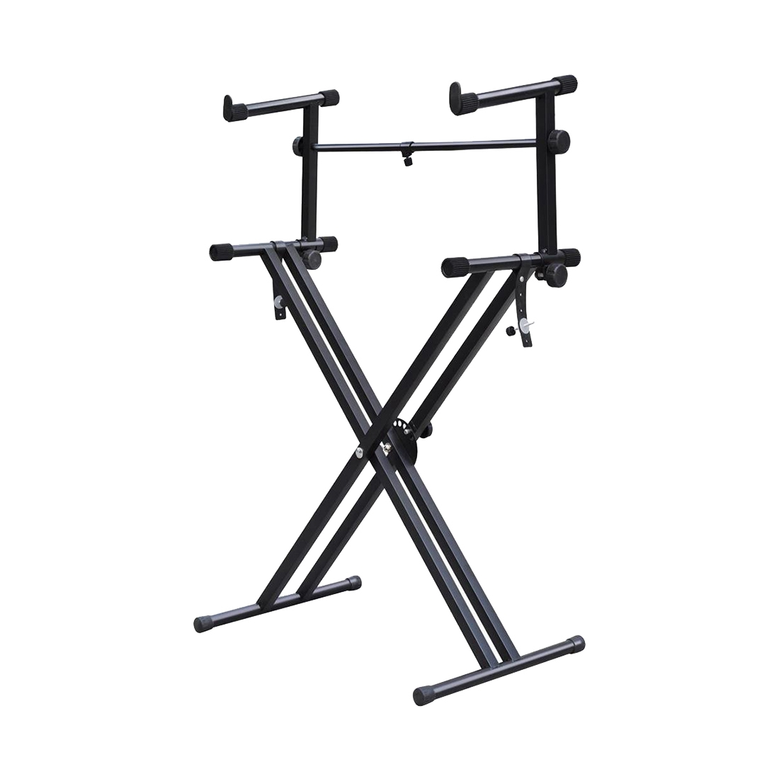 Heavy Duty X Style Dual Keyboard Stand Electronic Piano Double 2 Tier Y9m7