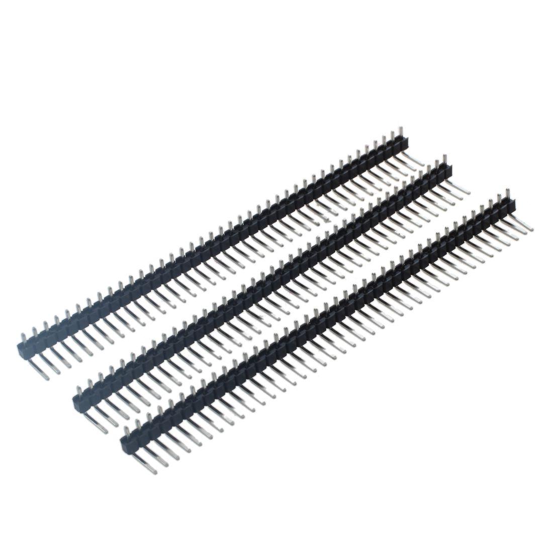 3 Pcs 40 Pins 2 54mm Pitch Right Angle Pcb Board Pin