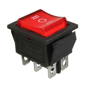 Waterproof LED illuminated 6Pins Mini OFO DPDT Rocker