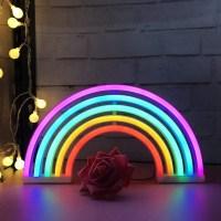 Neue Nette Regenbogen Leuchtreklame FüHrte Regenbogen ...