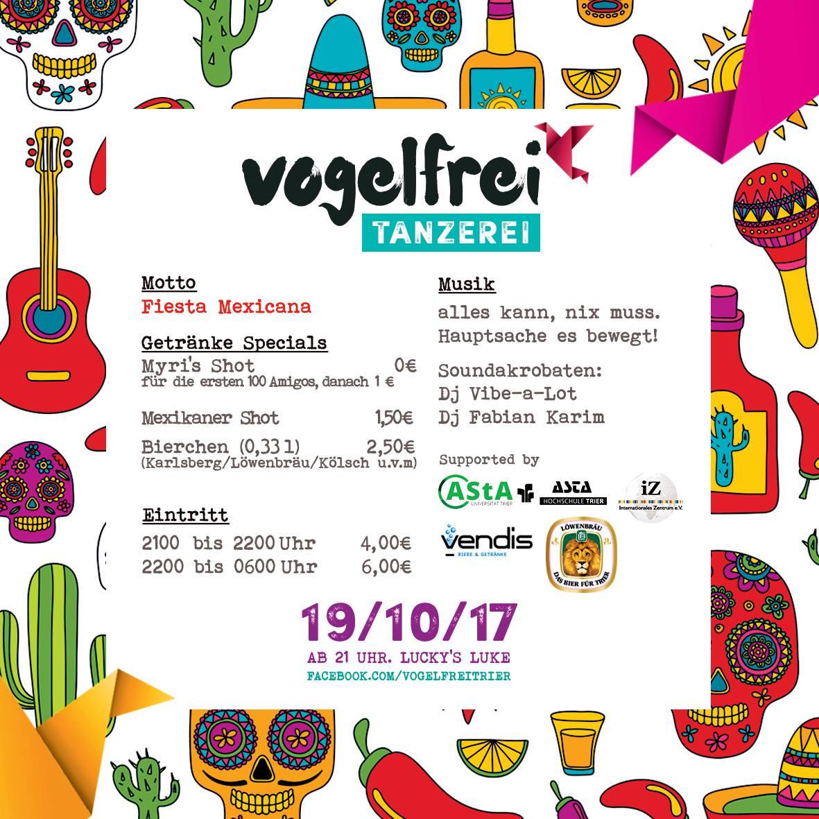Vogelfrei Tanzerei! Fiesta Mexicana