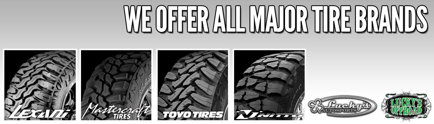 All Major Tire Brands at Lucky's Autosports