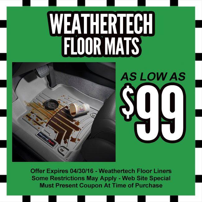 Weathertech Com Coupon >> Weathertech Floor Mats Coupon Lucky S Autosports