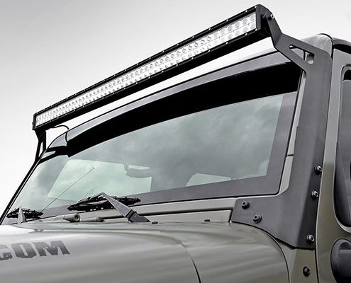 50 inch light bar jeep windshield mounting