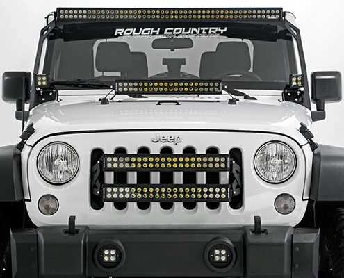 jeep led light bars grille cowl mounting