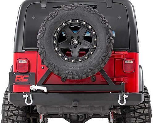 rough country jeep rear bumper tire carrier