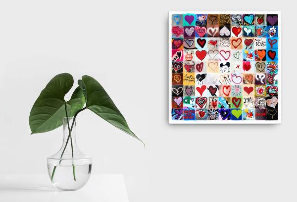 Besamos II (Let's Kiss) High quality, ready to hang canvas print (series: Love Letters)